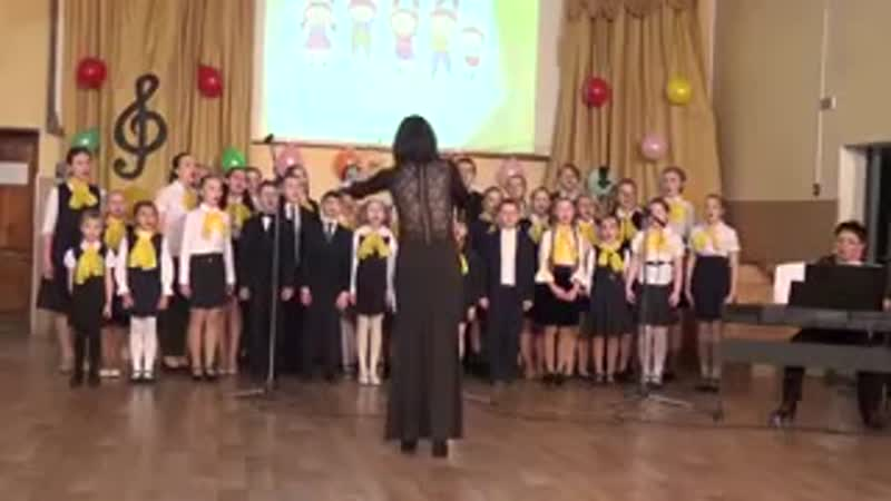 Смешанный хор песня мамам 2017 2018 уч год рук Овчинникова А В