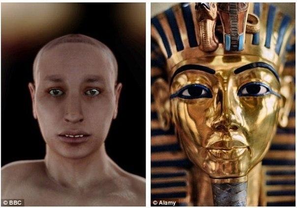 Предположения об облике Тутанхамона Мумию этого фараона изучали с помощью томографа. Было получено свыше 2000 сканов. Кроме того, ученые проводили и ДНК-анализы генетического материала самого