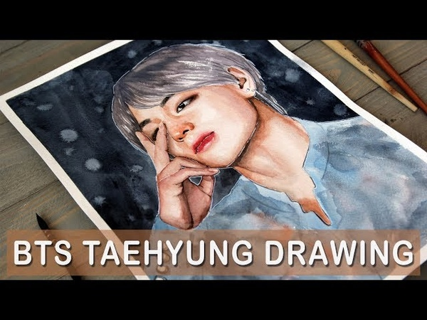 BTS TAEHYUNG WATERCOLOR DRAWING