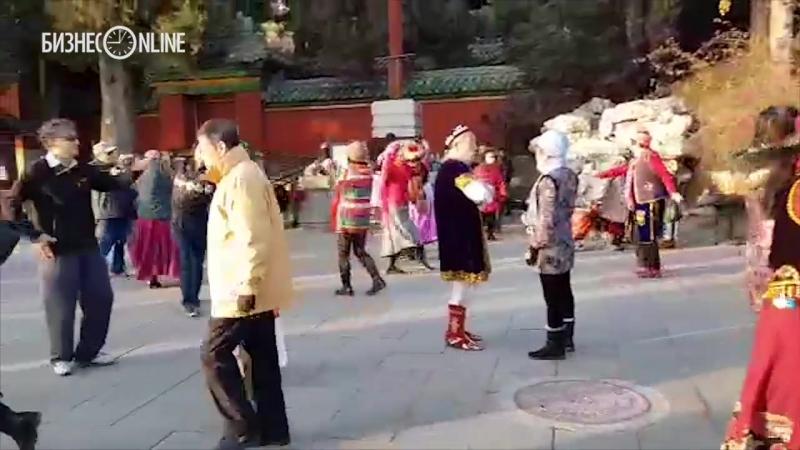 Уйгуры в центре Пекина