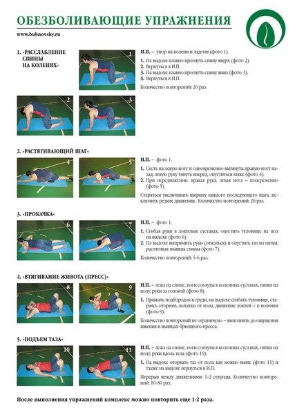 Упражнения для шейного по бубновскому в домашних условиях