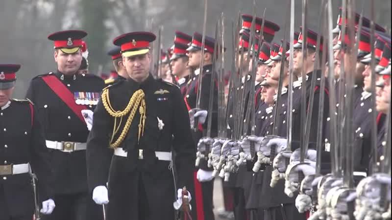 Уильям принял парад в военной академии Сэндхерст, 14.12.2018