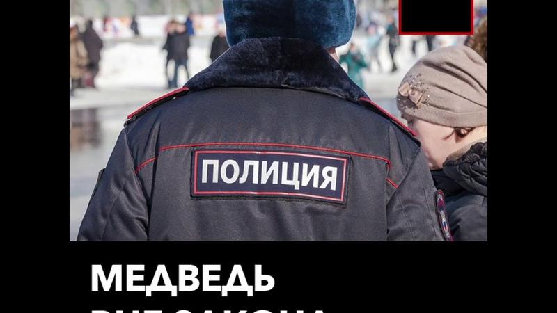 Полицейские задержали молодого человека в костюме медведя