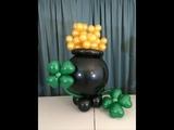 Jumbo Pot O Gold From Balloons - St Patrick's Day Party Ideas
