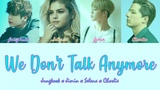 BTS (Jimin x Jungkook) x Selena x Charlie - We Don't Talk Anymore (Color Coded LyricsEng)
