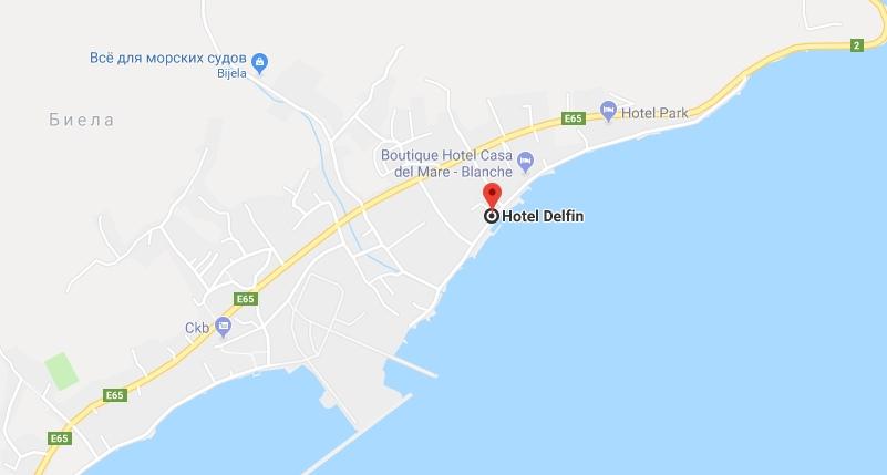 Hotel Delfin in Montenegro