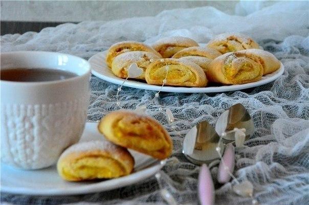Печенье с апельсиновой начинкой.  Предлагаю приготовить к чаю вкусное...