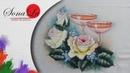 Rosas com Taças em Tecido (Aula 200/ Parte 1)