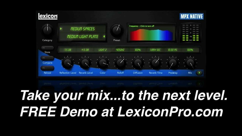 Introduction to the Lexicon MPX Native Reverb Plug in
