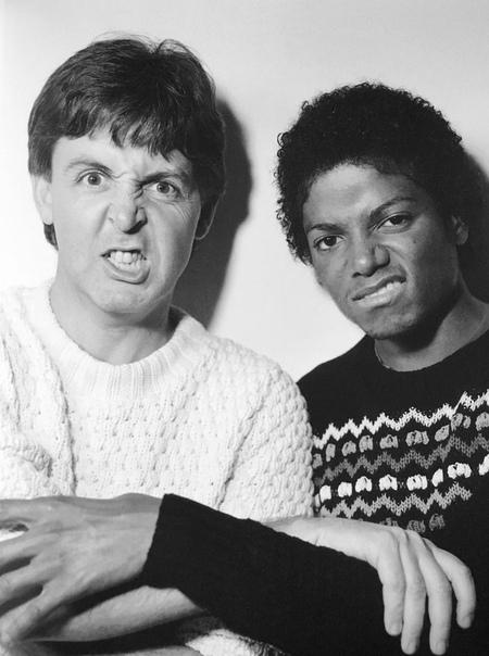 Подборка фотографий с Майклом Джексоном и Полом Маккартни. США, 1980-е годы.