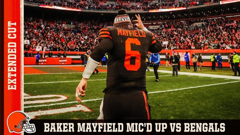 Baker Mayfield Micd Up vs. Bengals Extended Cut   Cleveland Browns