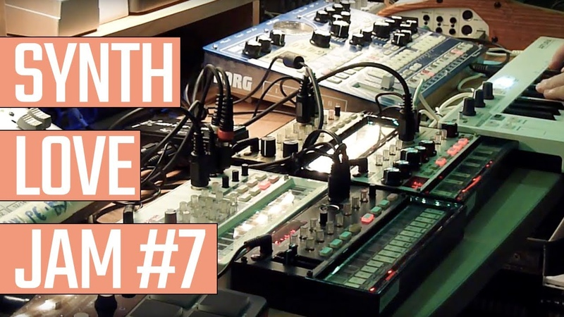 SYNTH LOVE JAM 7 - AMBIENT DARK WAVE - Electribe Emx1, 4 Volcas, Arturia keystep, Zoom Fx...