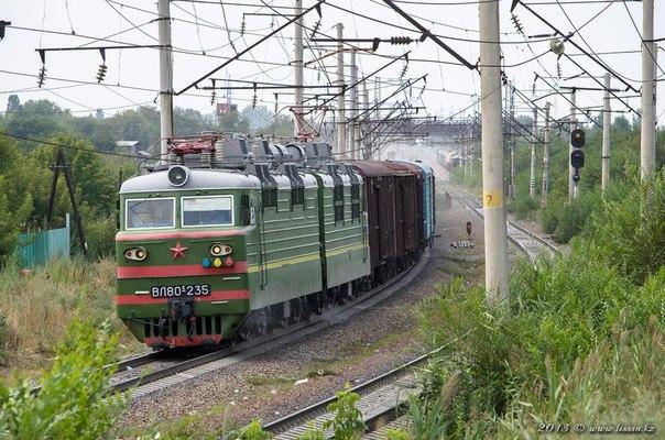 ВЛ80С-235 на перегоне Бурундай