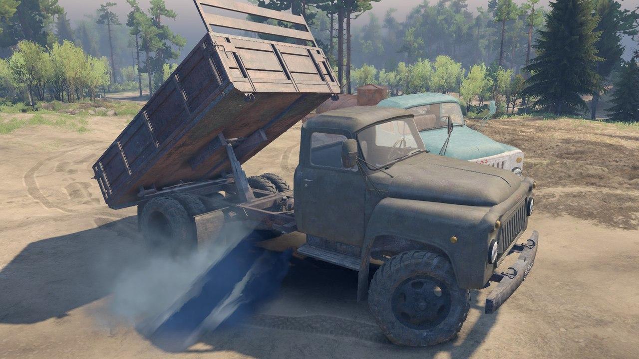 Пак автомобилей ГАЗ-52 и ГАЗ-53 для версии 13.04.15 для Spintires - Скриншот 3
