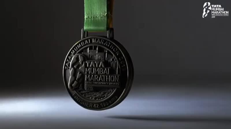 Медаль марафона в Мумбаи 2019