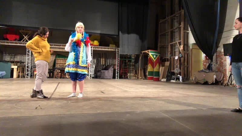 Репетиция в Зимнем театре грядущего концерта по мюзиклам Колдашовой