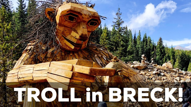 TROLL in Breckenridge Woods! 🌲🏔🌲 Isak Heartstone by Artist Thomas Dambo