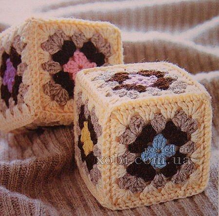 Вязаные кубики (5 фото) - картинка