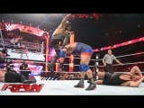 Randy Orton, Ryback and Roman Reigns vs Seth Rollins, Big Show and Kane (WWE RAW 30.03.2015). Part 3