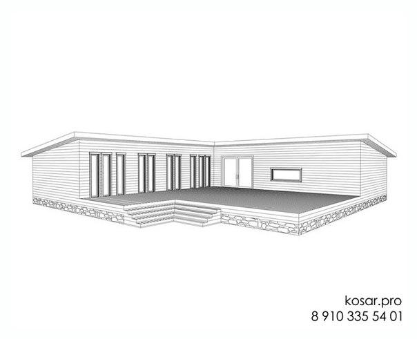 Одноэтажный дом 5011