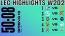LEC Highlights ALL GAMES | LEC Mùa hè 2019 | LEC Highlights ALL GAMES LEC Summer 2019 Week 2 Day 2