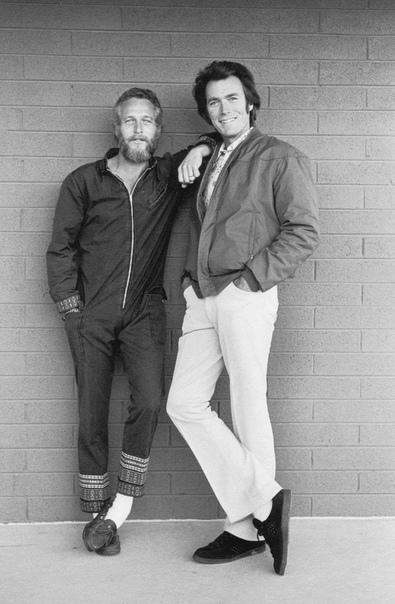 На фото красавчики Пол Ньюман и Клинт Иствуд.