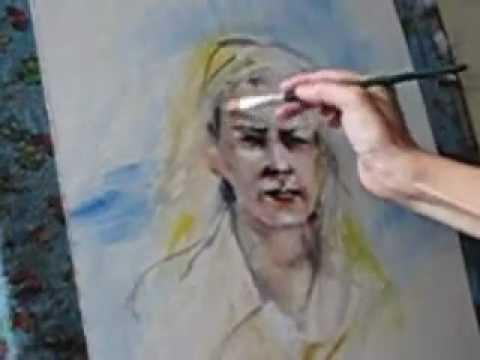 Портрет по фото акварелью.