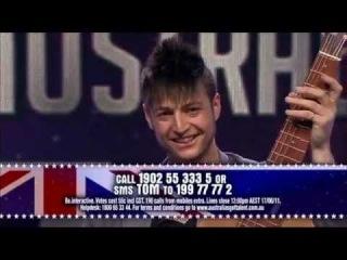 Australia's Got Talent 2011 - Tom Ward (Acoustic Shredding)