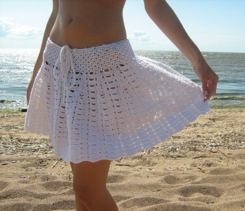Ажурная юбка крючком. (2 фото) - картинка