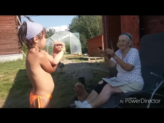 Сандра с прабабушкой
