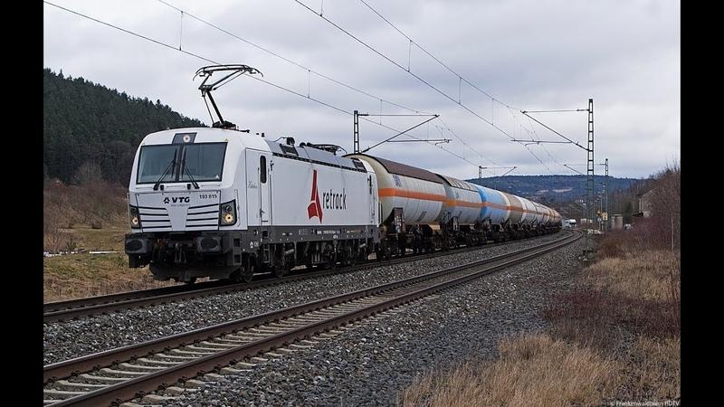 Güterzüge auf der Frankenwaldbahn - Retrack / VTG, PKP Cargo, TXL uvm.