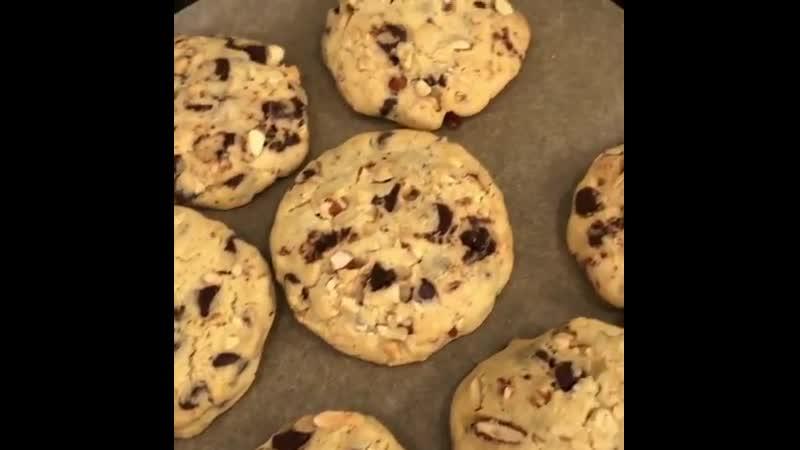 Любимое шоколадно ореховое печенье