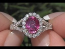 AIGS Certified Pink - Red Unheated Ruby Diamond Cocktail Ring 14k Gold 2.42 TCW - C228
