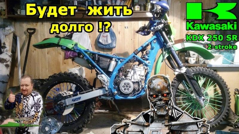 [Dimas TTR] Kawasaki KDX250SR, тонкости ремонта помпы. В гостях у киборга!