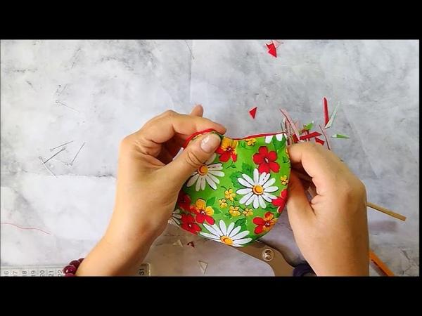 шитье текстильных вазочек 1
