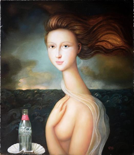 Alfonso Rocchi: Мои работы построены на идеализации женской фигуры с оттенками иронии и глумления. Моя техника очень трудоёмкая и кропотливая. Я уделяю много внимания деталям. Я использую много