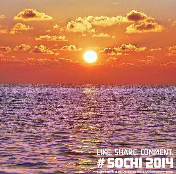 Апельсиновое небо и черничное море. В Сочи у каждого вечера свой вкус. #Сочи2014 #Sochi2014