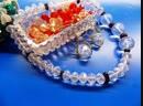 Снежная Королева - комплект авторских ювелирных украшений в силе ар деко - бусы и серьги