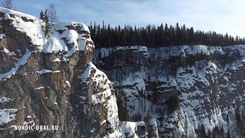 Шикарный зимний Северный Урал - съемки с дрона