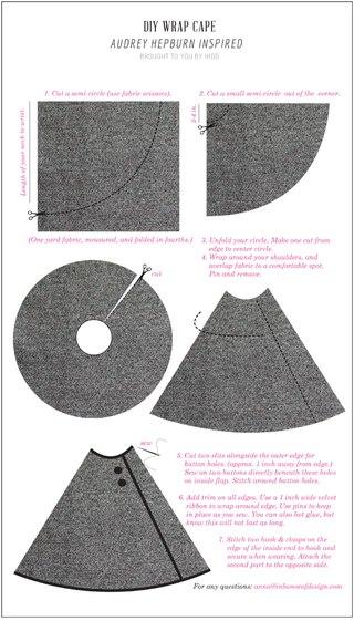 Как сделать накидку из ткани