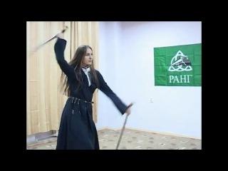 Танец с саблями русской девушки.