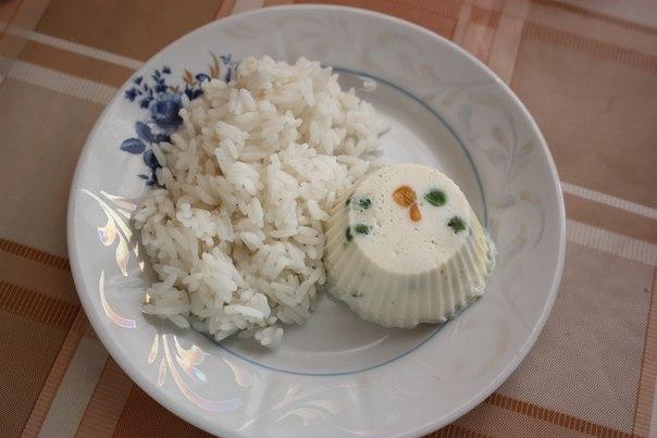 Рис + яйца.