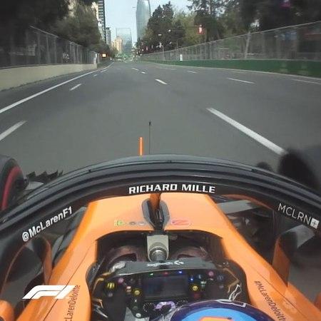 "FORMULA 1® on Instagram ""How do you drive a two-wheeler Just watch Fernando's hands 👀 😮 . F1 Formula1 AzerbaijanGP Baku Alonso FernandoAlon..."