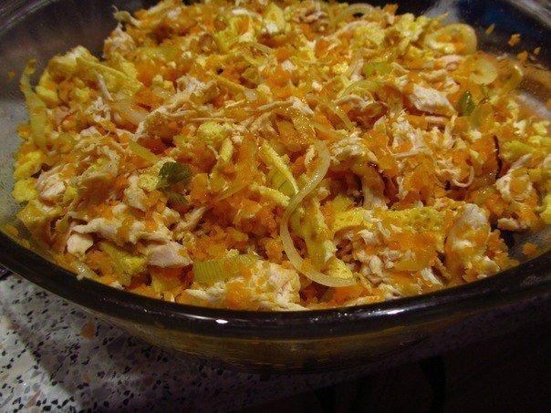 Салаты с жареным луком и морковью рецепты с фото