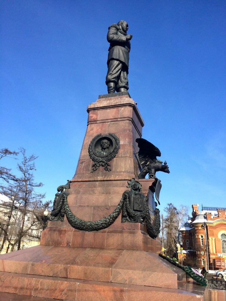 В первомайский праздник 1920 года в Иркутске с пьедестала свергли статую http://cs616221.vk.me/v616221168/5dba/6G7-JCwUexc.jpg