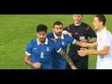 Panagiotis Kone try to punch Nemanja Matic - Greece - Serbia 18.11.2014 Friendly Match