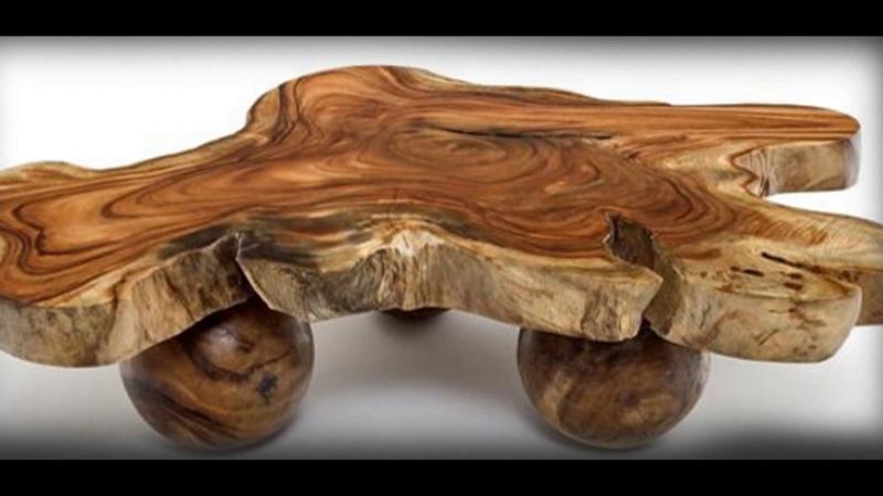 Самая красивая мебель. Мебель из спилов дерева.
