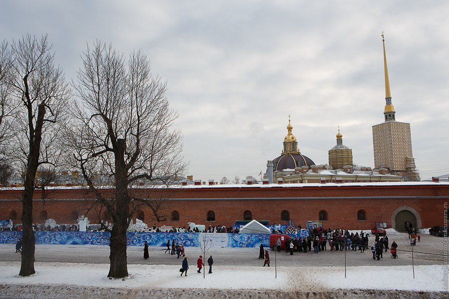 Катальная горка у Петропавловской крепости Петропавловская крепость