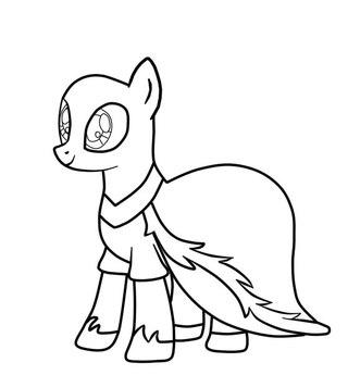 Раскраски манекены пони