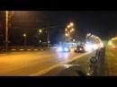 Drag race Dodge Challenger SRT8 exhaust LoudMouth VS Ford Mustang GT supercharged edelbrock